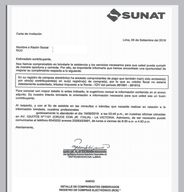 ¿Recibiste una Carta Inductiva de SUNAT?